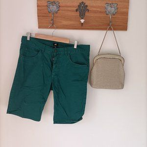 H&M H & M man shorts green emerald with pockets